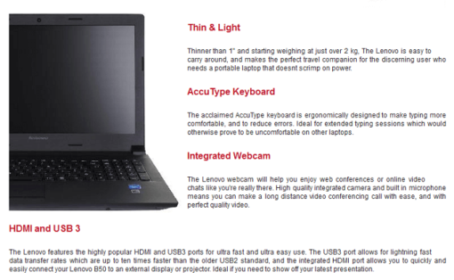 Lenovo 8GB Laptop - Special Offer TecBuyer